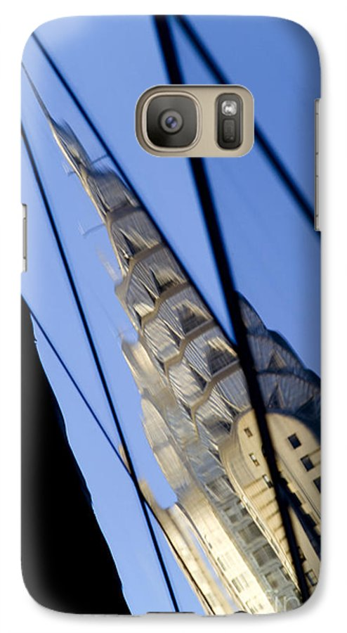 Chrysler Galaxy S7 Case featuring the photograph Chrysler Building by Tony Cordoza