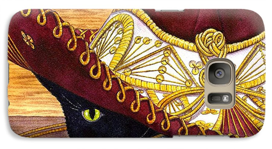 Cat Galaxy S7 Case featuring the painting Cinco De Mayo by Catherine G McElroy