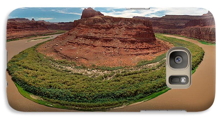 3scape Photos Galaxy S7 Case featuring the photograph Colorado River Gooseneck by Adam Romanowicz