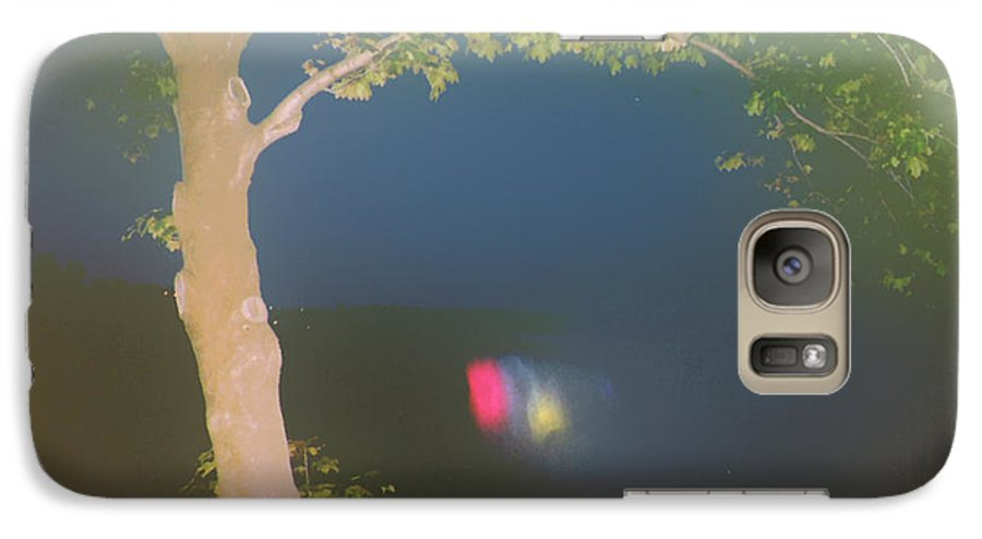Waterfall Galaxy S7 Case featuring the photograph Colored Falls by Pharris Art