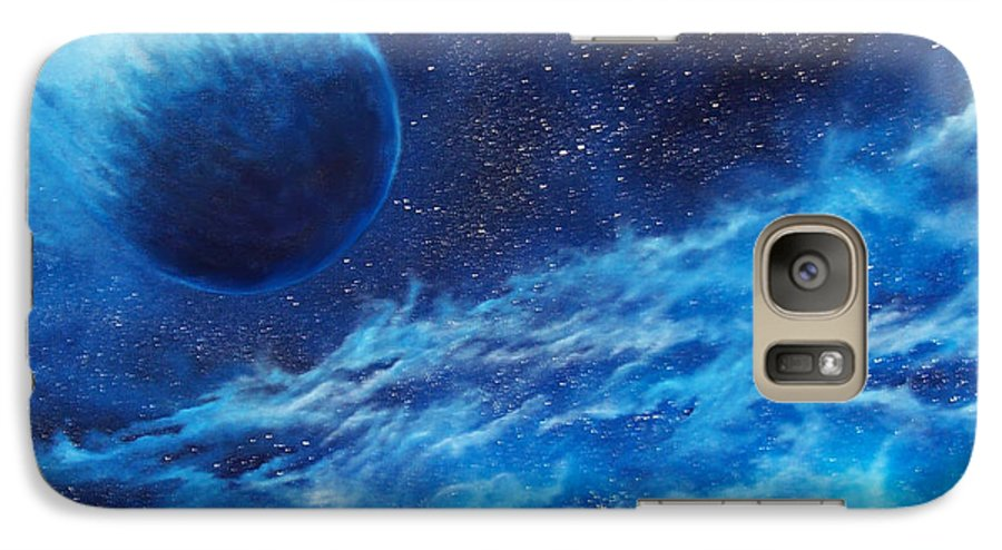 Astro Galaxy S7 Case featuring the painting Comet Experience by Murphy Elliott