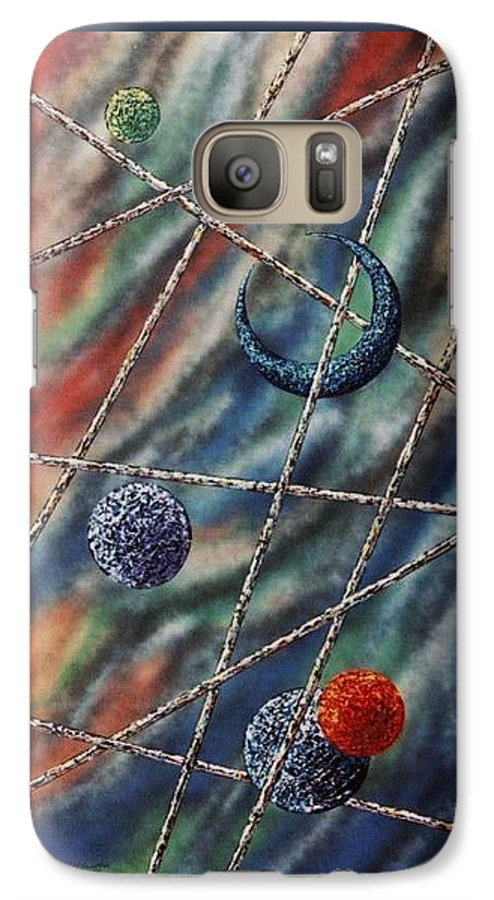 Abstract Galaxy S7 Case featuring the painting Crescent by Micah Guenther