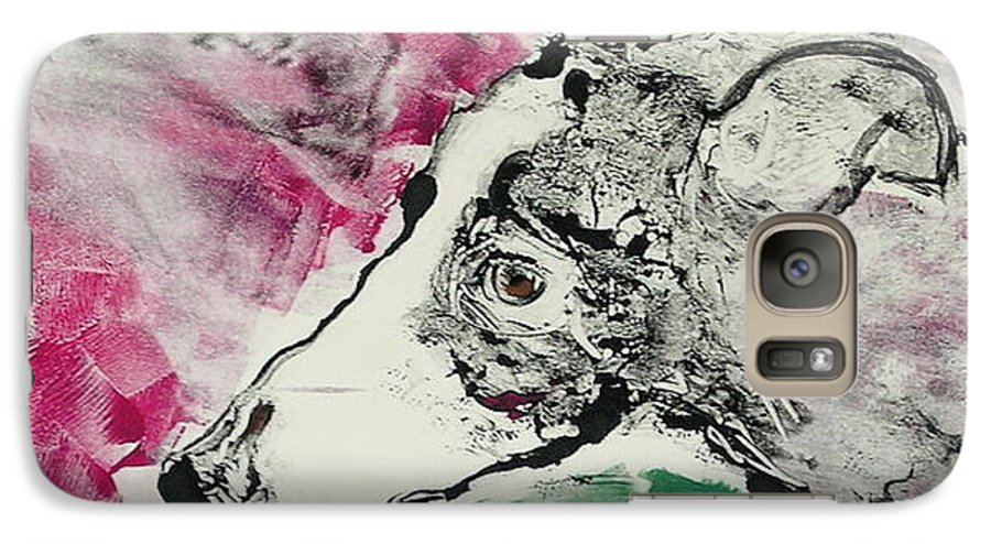 Greyhound Galaxy S7 Case featuring the painting Cyrus by Cori Solomon