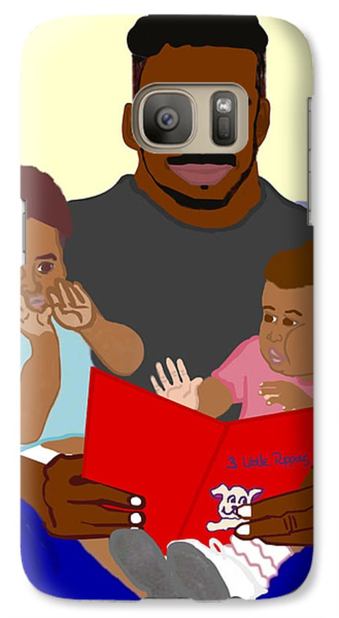 Dad Galaxy S7 Case featuring the painting Daddy's Bundles by Pharris Art