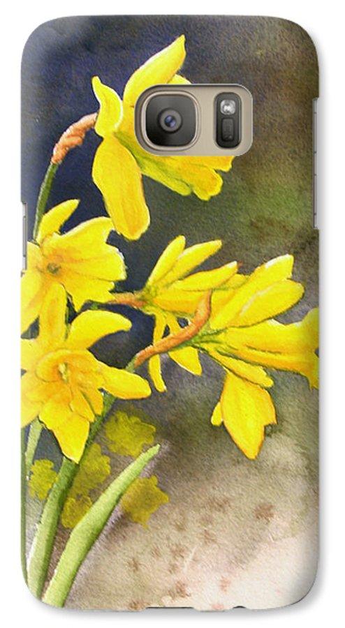 Rick Huotari Galaxy S7 Case featuring the painting Daffodils by Rick Huotari