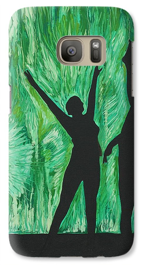 Abstract Galaxy S7 Case featuring the painting Dance by Aimee Vance