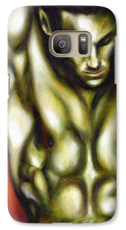 Man Galaxy S7 Case featuring the painting Dancer One by Hiroko Sakai