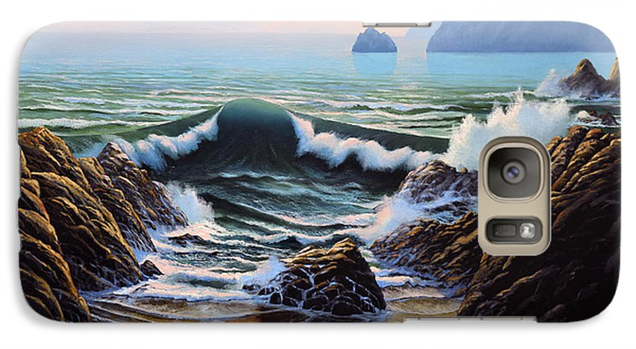 Seascape Galaxy S7 Case featuring the painting Dancing Tide by Frank Wilson