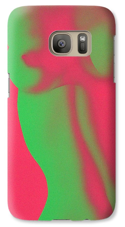 Nude Galaxy S7 Case featuring the painting Dayglo Nude by Philip Fleischer