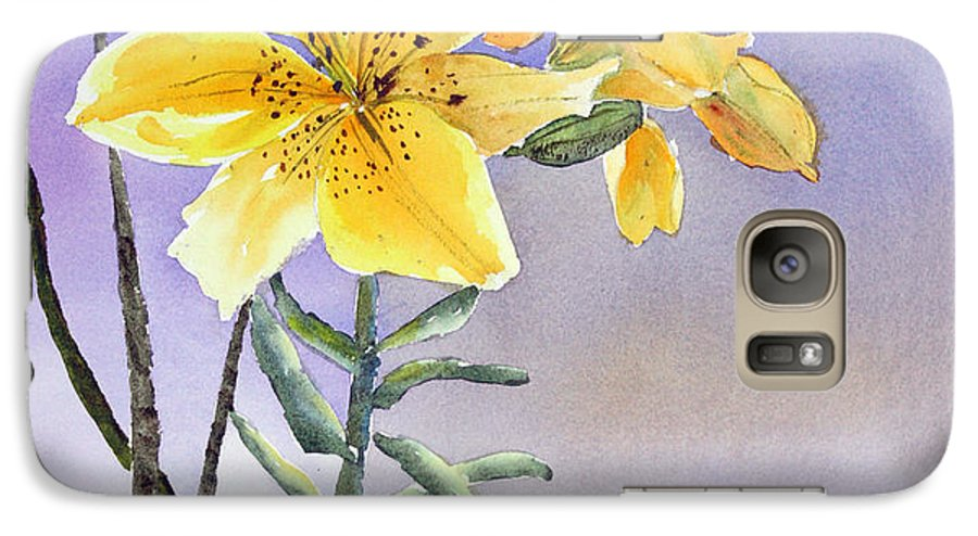 Lily Galaxy S7 Case featuring the painting Daylilies by Patricia Novack