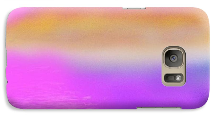 Morning.sky.sea.fog.coilors.mounts.water.reflection.sun Galaxy S7 Case featuring the digital art Dead Sea .morning by Dr Loifer Vladimir