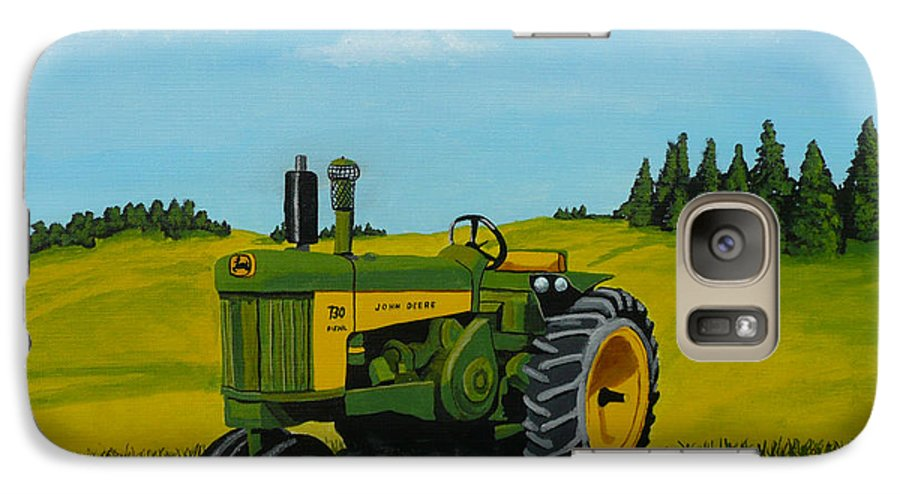 John Deere Galaxy S7 Case featuring the painting Dear John by Anthony Dunphy