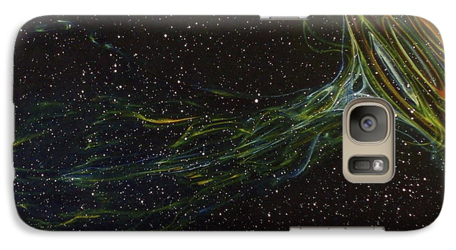 Abstract Galaxy S7 Case featuring the painting Death Throes by Sean Connolly