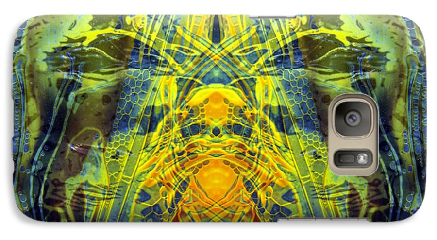 Surrealism Galaxy S7 Case featuring the digital art Decalcomaniac Intersection 1 by Otto Rapp