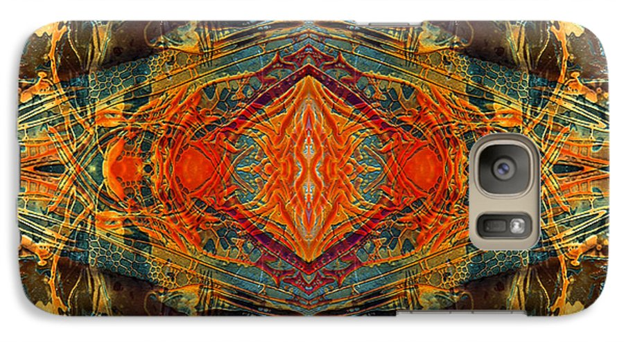 Surrealism Galaxy S7 Case featuring the digital art Decalcomaniac Intersection 2 by Otto Rapp