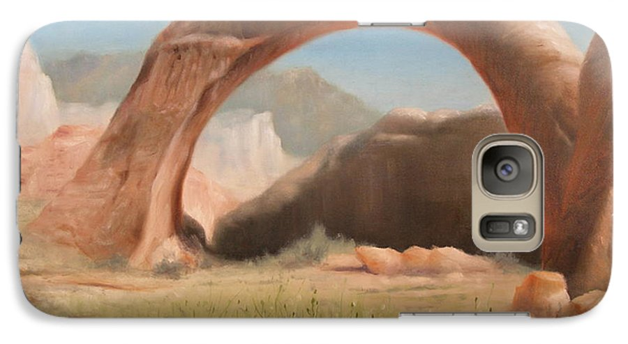 Realism Galaxy S7 Case featuring the painting Desert Arch by Donelli DiMaria