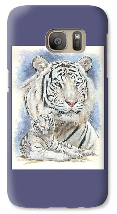 Big Cat Galaxy S7 Case featuring the mixed media Dignity by Barbara Keith