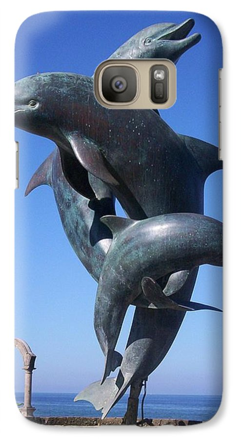 Jandrel Galaxy S7 Case featuring the photograph Dolphin Dance by J Andrel