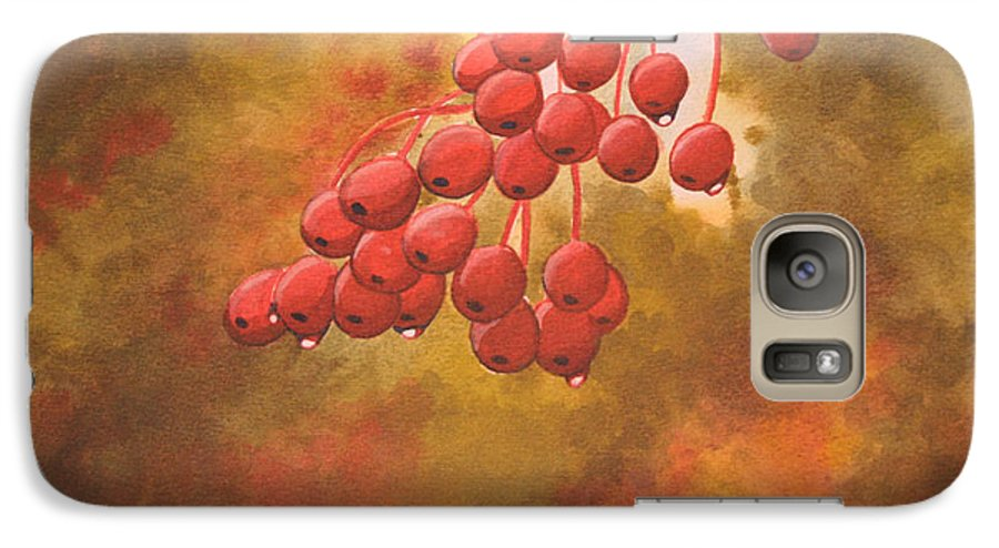 Rick Huotari Galaxy S7 Case featuring the painting Door County Cherries by Rick Huotari