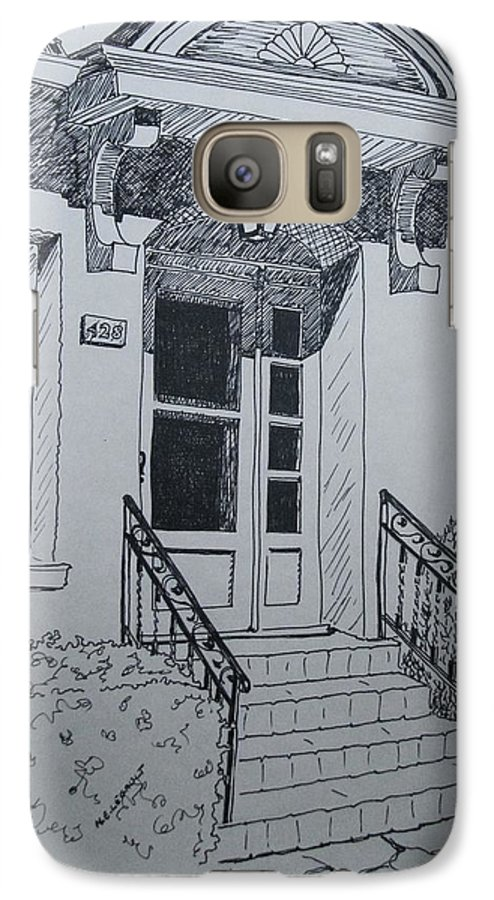 Pen And Ink Galaxy S7 Case featuring the drawing Doorway by Mary Ellen Mueller Legault