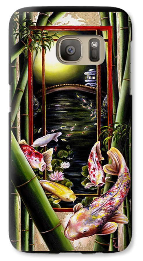 Japanese Galaxy S7 Case featuring the painting Dream by Hiroko Sakai