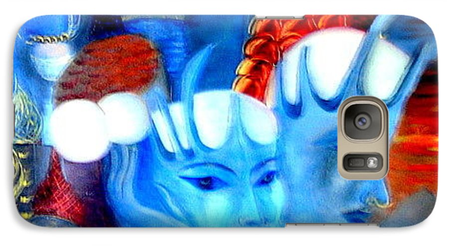Surrealism Galaxy S7 Case featuring the painting Dreams Of Russia by Pilar Martinez-Byrne