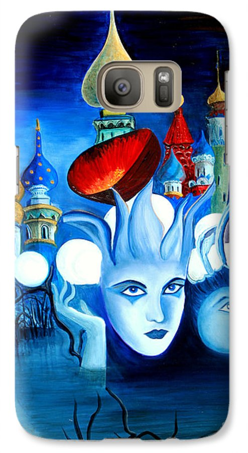 Surrealism Galaxy S7 Case featuring the painting Dreams by Pilar Martinez-Byrne