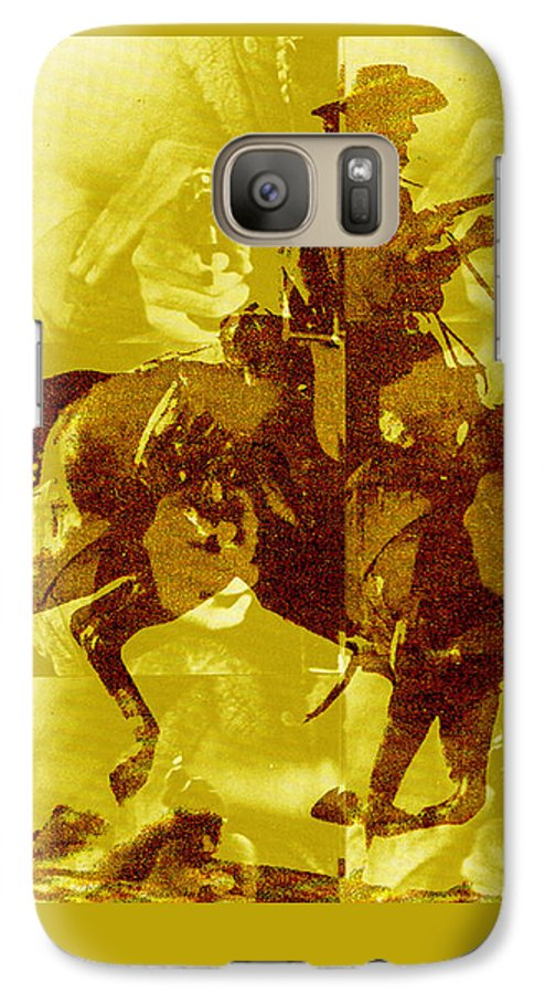 Clint Eastwood Galaxy S7 Case featuring the digital art Duel In The Saddle 1 by Seth Weaver