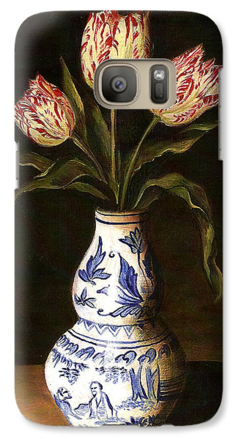 Dutch Still Life Galaxy S7 Case featuring the painting Dutch Still Life by Teresa Carter