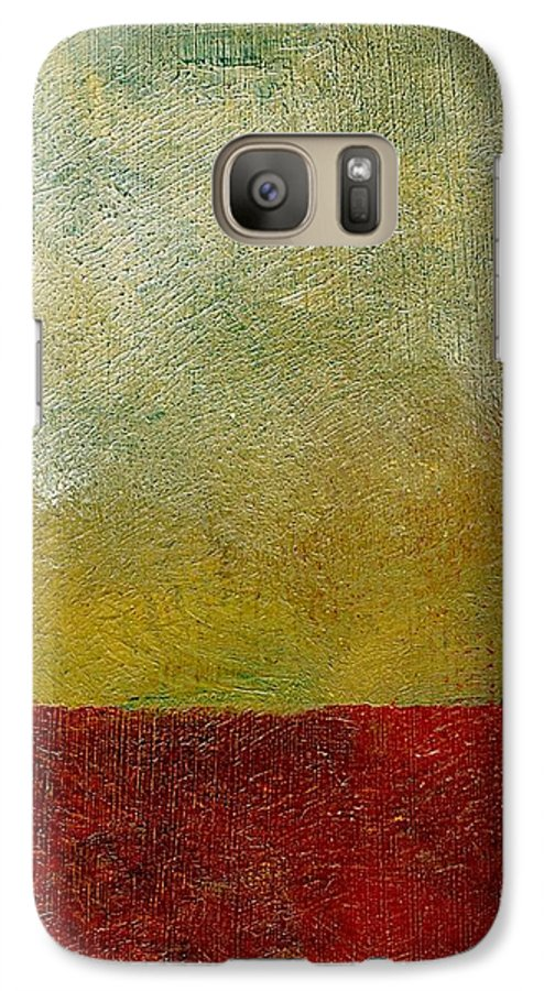Abstract Landscape Galaxy S7 Case featuring the painting Earth Study One by Michelle Calkins