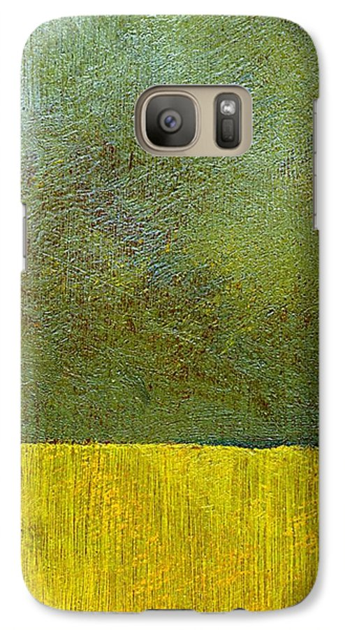 Abstract Landscape Galaxy S7 Case featuring the painting Earth Study Two by Michelle Calkins