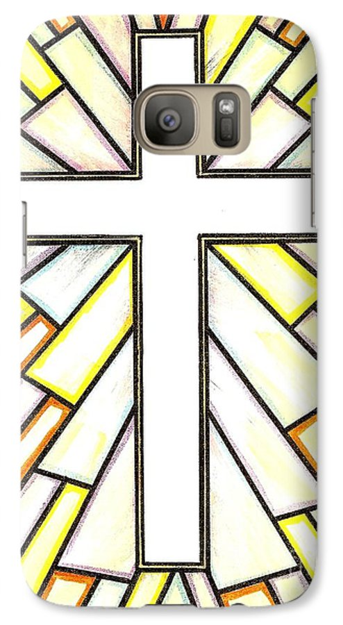Cross Galaxy S7 Case featuring the painting Easter Cross 3 by Jim Harris