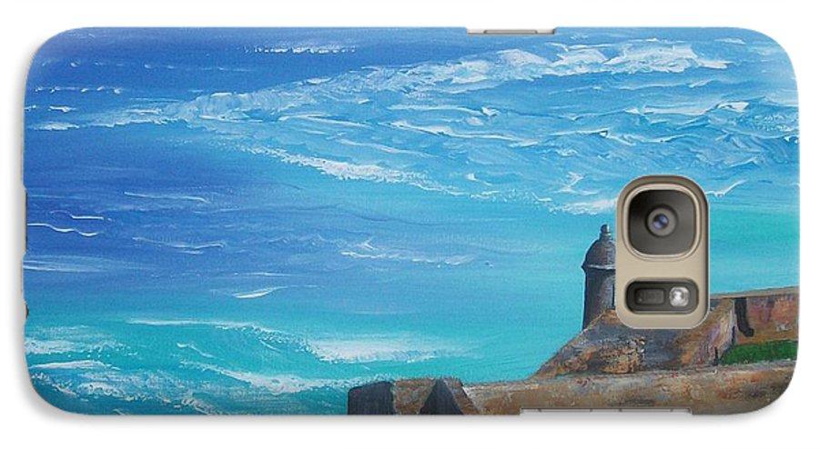 El Morro Ii Galaxy S7 Case featuring the painting El Morro II by Tony Rodriguez