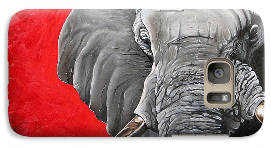 Wildlife Galaxy S7 Case featuring the painting Elephant by Ilse Kleyn