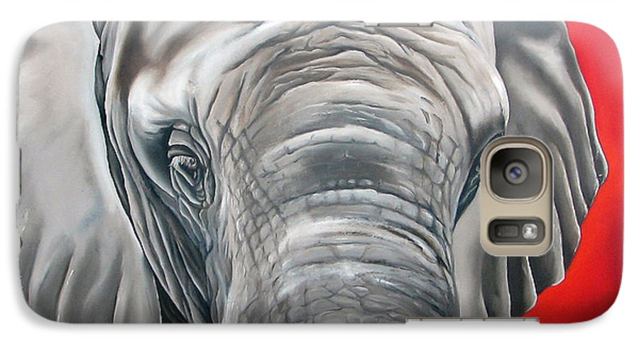 Elephant Galaxy S7 Case featuring the painting Elephant Six Of Eight by Ilse Kleyn