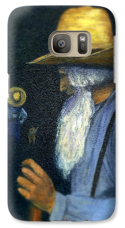 Men Galaxy S7 Case featuring the painting Eli Remembers by Gail Kirtz