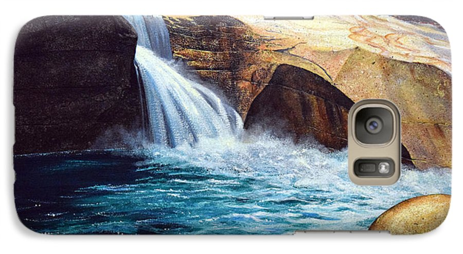 Emerald Pool Galaxy S7 Case featuring the painting Emerald Pool by Frank Wilson