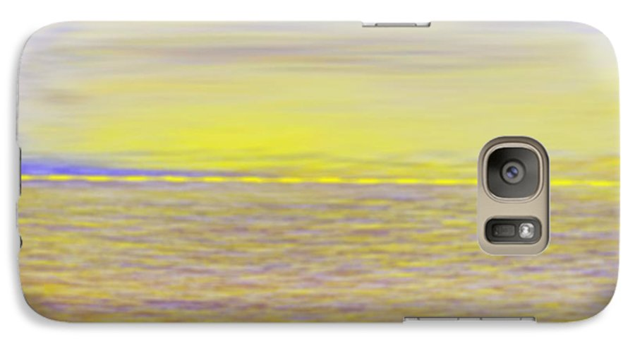 Sky.clouds.sun Reflection On Clouds.colr Clouds.sunset.sun.yellow.sea.waves.sun Reflection On Water. Galaxy S7 Case featuring the digital art End Of Day by Dr Loifer Vladimir