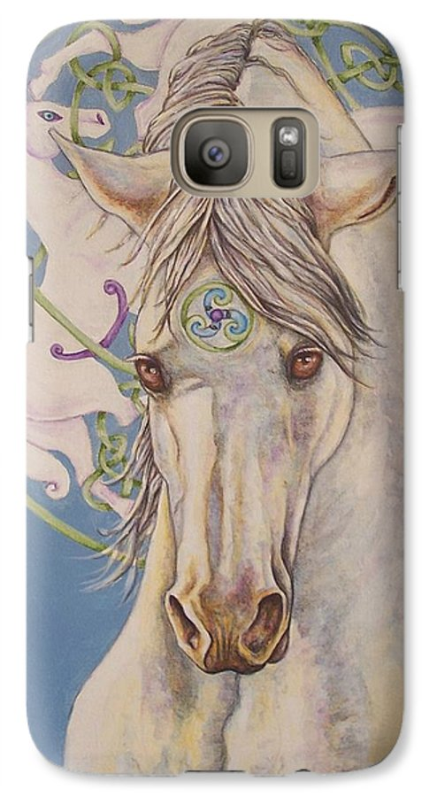 Celtic Galaxy S7 Case featuring the painting Epona The Great Mare by Beth Clark-McDonal