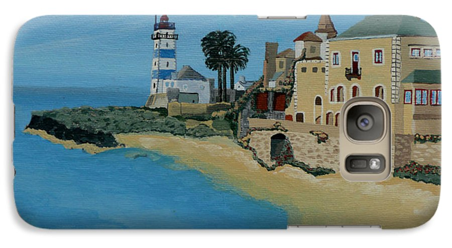 Lighthouse Galaxy S7 Case featuring the painting European Lighthouse by Anthony Dunphy