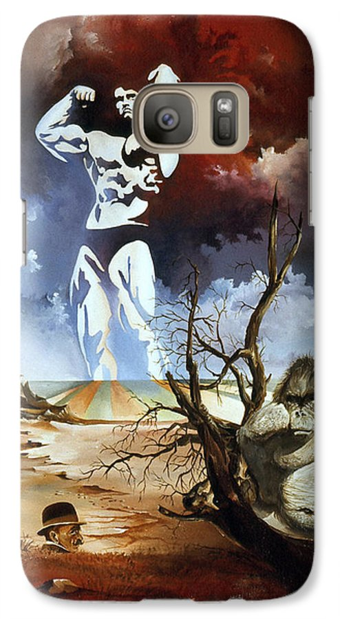 Surrealism Galaxy S7 Case featuring the painting Evolution by Otto Rapp
