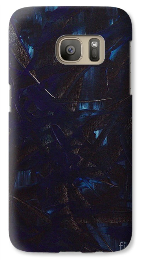 Abstract Galaxy S7 Case featuring the painting Expectations Blue by Dean Triolo