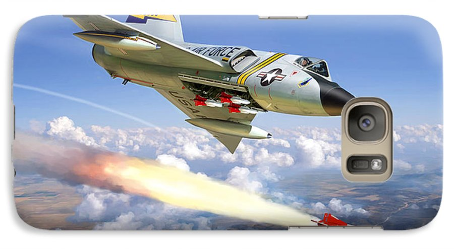 Aviation Galaxy S7 Case featuring the painting F-106 Delta Dart 5th Fis by Mark Karvon