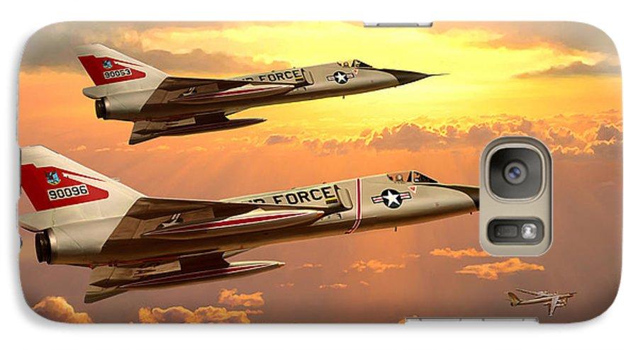 Aviation Galaxy S7 Case featuring the painting F-106 Delta Dart Intercept by Mark Karvon