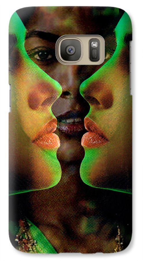 Women Galaxy S7 Case featuring the digital art Face 2 Face by Seth Weaver