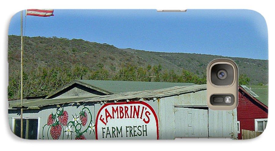 Farm Fresh Produce Galaxy S7 Case featuring the photograph Fambrini's Farm Fresh Produce by Suzanne Gaff