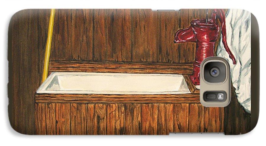 Farm Sink Galaxy S7 Case featuring the painting Farm Sink by Regan J Smith