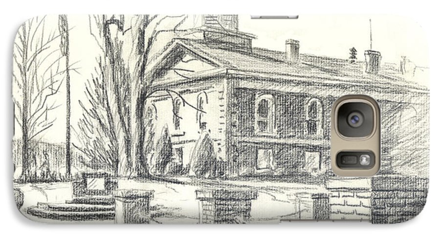 February Morning No Ctc102 Galaxy S7 Case featuring the drawing February Morning No Ctc102 by Kip DeVore