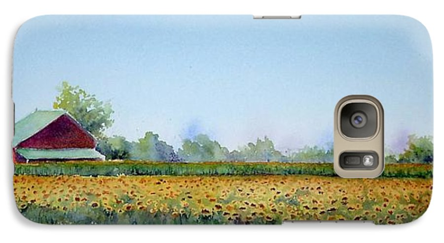 Landscape Galaxy S7 Case featuring the painting Field Of Sunshine by Patricia Henderson