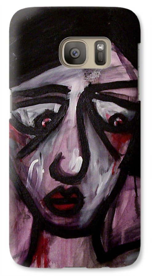 Portait Galaxy S7 Case featuring the painting Finals by Thomas Valentine